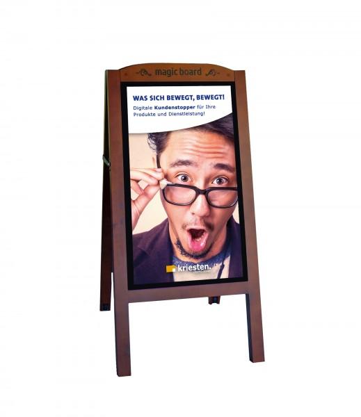 Digitaler Kundenstopper   Digital Signage